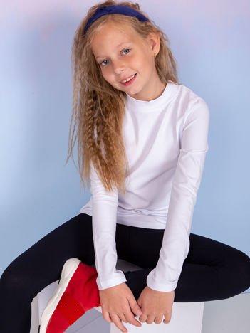 Biała bluzka dziecięca z półgolfem