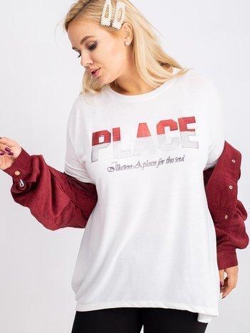 Biała bluzka plus size Gracie