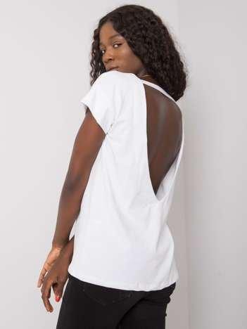 Biała bluzka z dekoltem na plecach Fadia