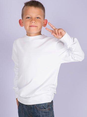 Biała gładka bluza dziewczęca