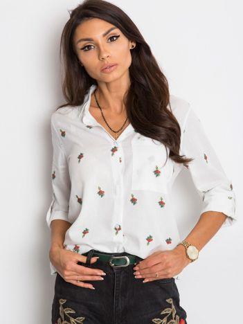 Biała koszula Roses