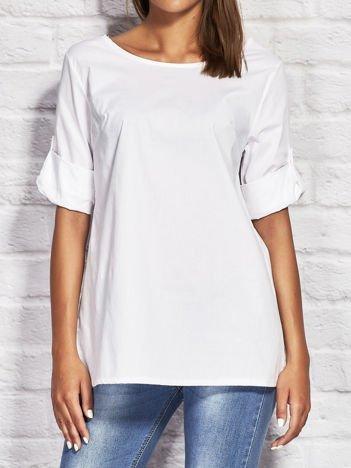 Biała koszula lace up