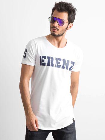 Biała koszulka męska z napisem