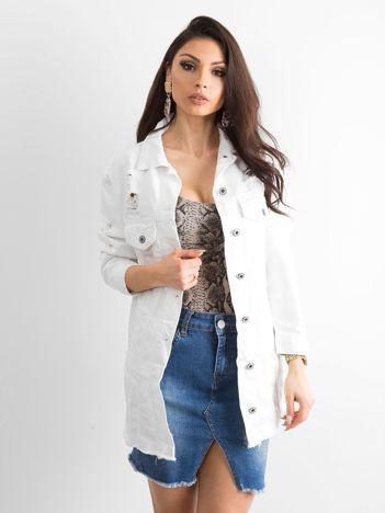 Biała kurtka jeansowa Modern