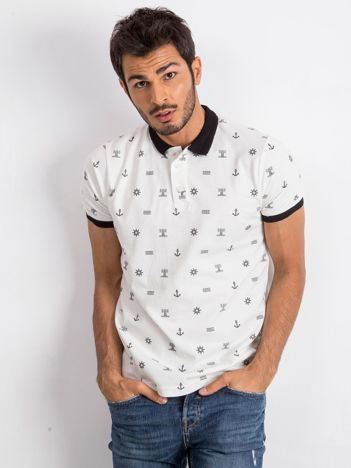 Biała męska koszulka polo Smith