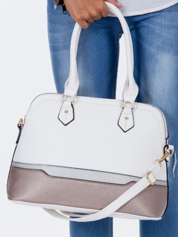 Biała modułowa torba w miejskim stylu