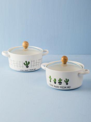 Biała okrągła miska ceramiczna