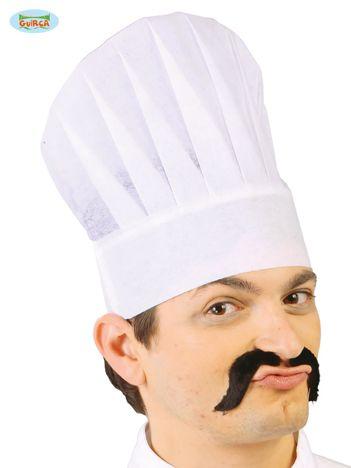 Biała papierowa czapka Kucharza