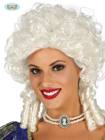 Biała peruka Markiza