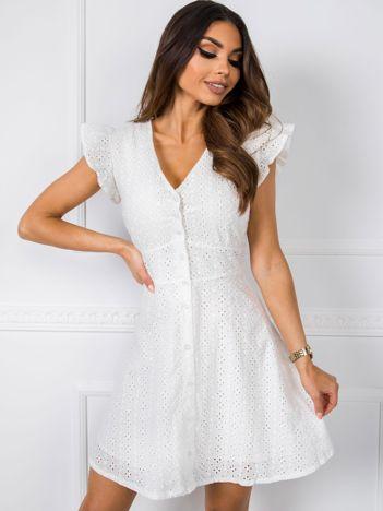 Biała sukienka Sandy RUE PARIS