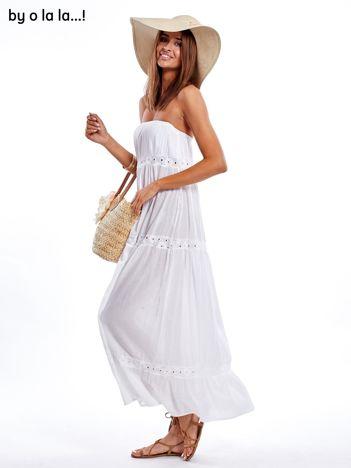 Biała sukienka maxi BY O LA LA