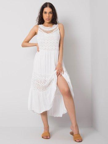 Biała sukienka na co dzień Gabrielle