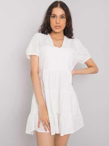 Biała sukienka na co dzień Iria