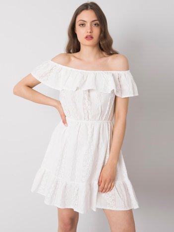Biała sukienka na co dzień Veronica