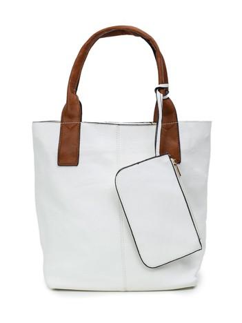 Biała torba z saszetką