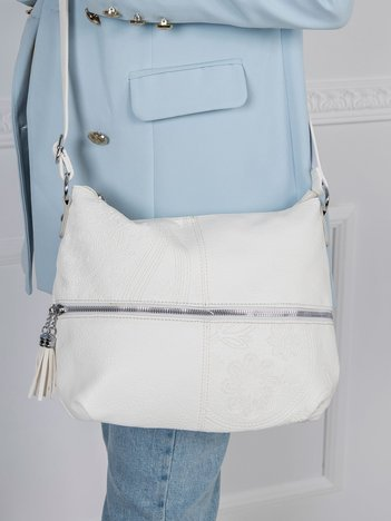 Biała torebka z eko skóry