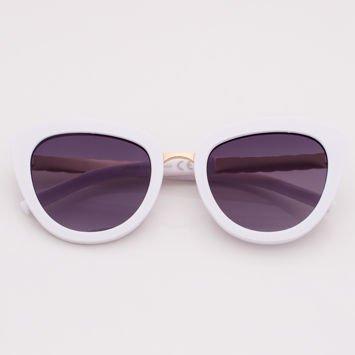 Białe Damskie Okulary Przeciwsłoneczne
