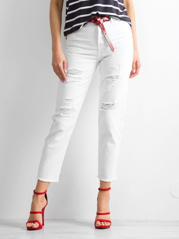 Białe jeansy Afforts