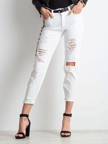 Białe jeansy Dropping