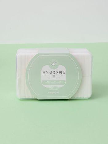 Białe płatki kosmetyczne bawełniane