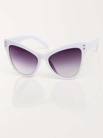 Białe przeciwsłoneczne okulary damskie CAT ELEGANT