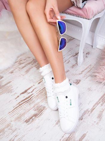 Białe tenisówki BIG STAR z eco skóry