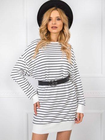 Biało-czarna sukienka Rosemary