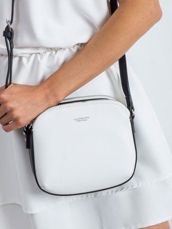 Biało-czarna torebka na ramię