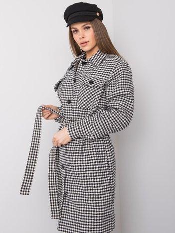 Biało-czarny płaszcz Tori