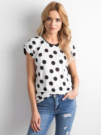 82fed445a1cc Biało-czarny t-shirt w grochy