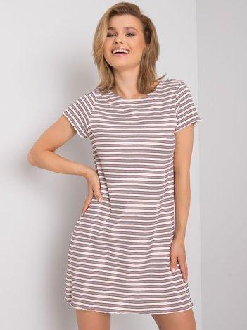 Biało-czerwona sukienka Trina