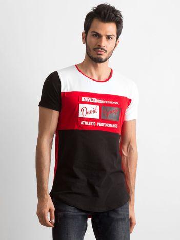 Biało-czerwony t-shirt męski