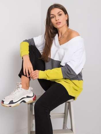 Biało-limonkowa bluza Lotta RUE PARIS