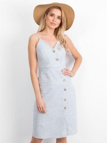 Biało-niebieska sukienka Impressive