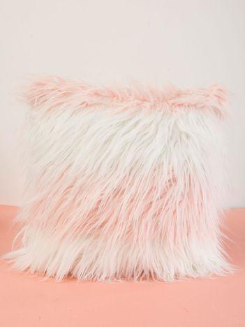 Biało-różowa poduszka dekoracyjna