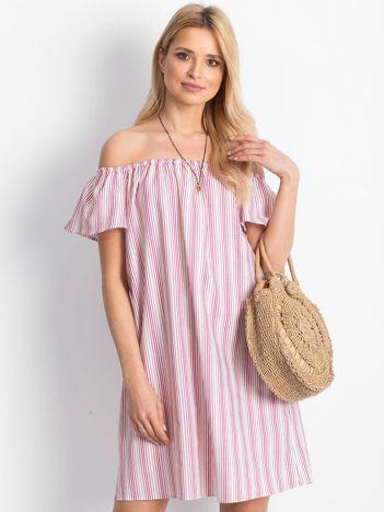 Biało-różowa sukienka Flufee
