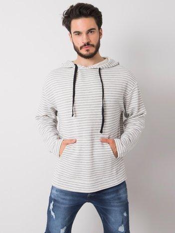 Biało-szara bluza męska z kapturem Zayn