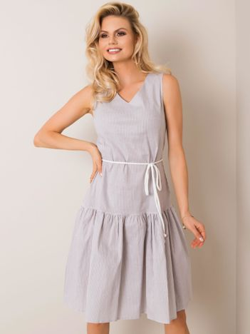 Biało-szara sukienka Samba