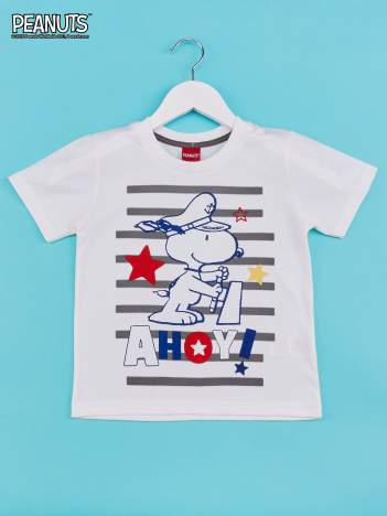Biało-szary t-shirt chłopięcy FISTASZKI