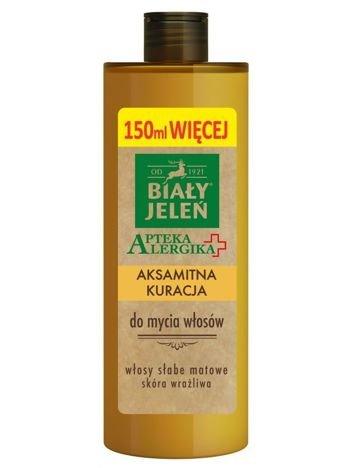 Biały Jeleń Apteka Alergika Aksamitna kuracja do mycia włosów  400 ml