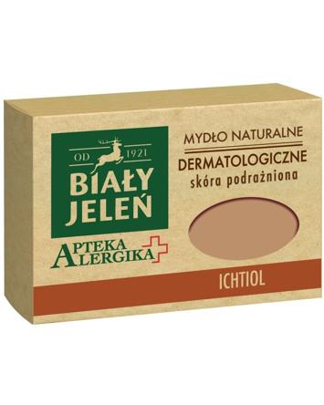 Biały Jeleń Apteka Alergika Mydło naturalne Ichtiol - skóra podrażniona 125g