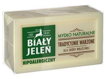 Biały Jeleń Mydło naturalne hipoalergiczne tradycyjnie warzone Szare mydło 150 g