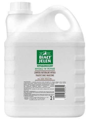 Biały Jeleń Mydło w płynie hipoalergiczne Szare mydło zapas 2 l