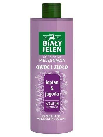 Biały Jeleń Owoc i Zioło Szampon do włosów oczyszczający Łopian i Jagoda  400 ml