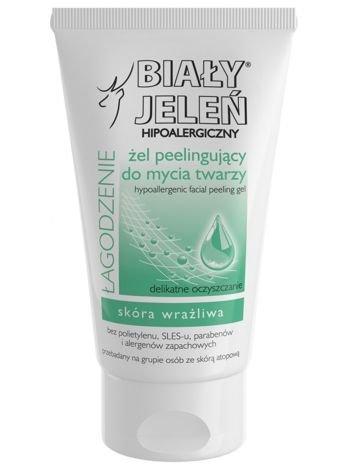 Biały Jeleń Żel peelingujący do mycia twarzy hipoalergiczny Łagodzenie 150 ml