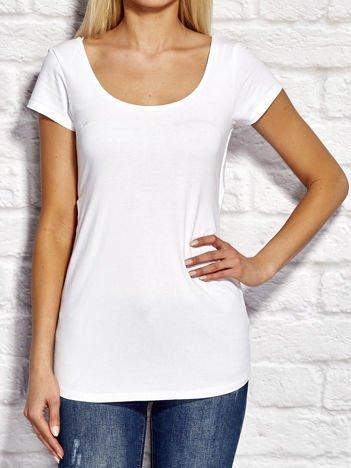 Biały asymetryczny t-shirt