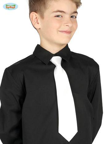 Biały dziecięcy krawat karnawałowy