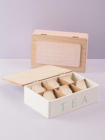 Biały pojemnik na herbatę
