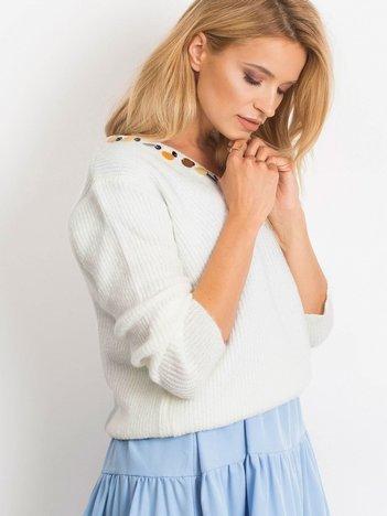 Biały sweter Peace