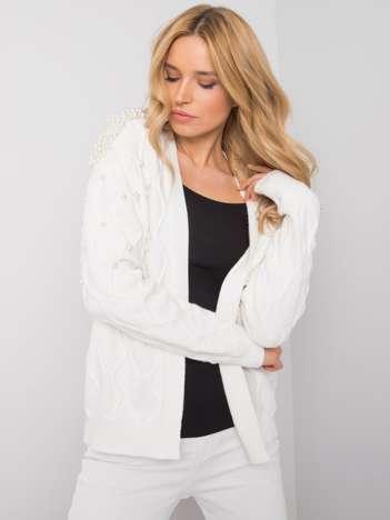 Biały sweter z perełkami Meridiah